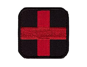 Hook Fastener Red Cross Medic Tactical Patch Écusson Brodé Fixation Crochet Par Titan One Europe