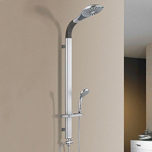 [neu.haus] Colonna doccia moderna (kit completo) Colonna a parete con due soffioni Soffione doccia Doccia a cascata Shower Set