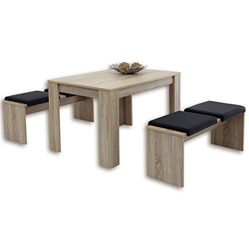 ROLLER 3-teilige Tischgruppe LILLE – Sonoma Eiche