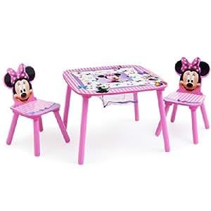 disney minnie mouse ensemble table table 2 chaises rangement pour si ge groupe alimentation. Black Bedroom Furniture Sets. Home Design Ideas