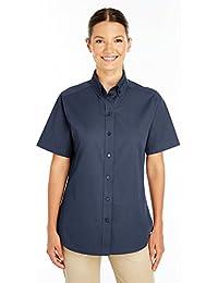 Ladies' Foundation 100% Cotton Short-Sleeve Twill Shirt TeflonÖ
