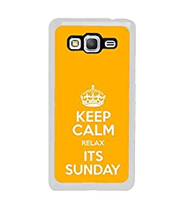 PrintVisa Designer Back Case Cover for Samsung Galaxy Grand Prime :: Samsung Galaxy Grand Prime Duos :: Samsung Galaxy Grand Prime G530F G530Fz G530Y G530H G530Fz/Ds (Keep Calm Relax Its Sunday Crown)