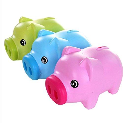 A menudo dibujos animados Hucha con monedas Coca Hucha Hucha Caja de dinero para niños, azul