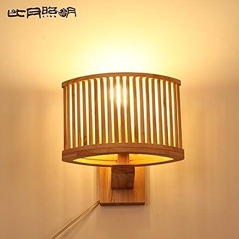 BBSLT Registros de pared lámpara lámpara de noche dormitorio creativa personalidad en Asia Sur-Oriental cenizas pasillo balcón iluminación 260 * 240mm