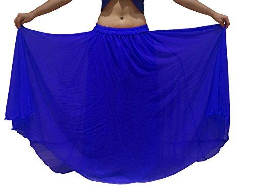 is XXL - 6m Bauchtanz Kostüm Rock Wavy Edged UK SIZE 10-24 - Wähle Länge & Farbe (Länge außen Bein 38/39 Zoll, Königsblau) (Passende Kostüme Für Frauen)