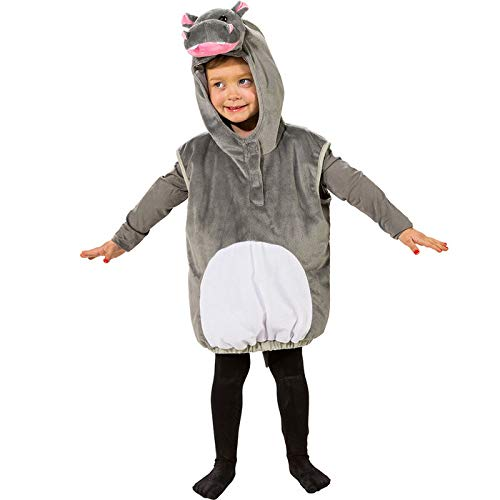 der-Kostüm Nilpferd mit Kapuze, Einheitsgr. ()