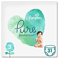 Pampers Pure Protection Diapers, Size 3, 6-10kg, 31 Count