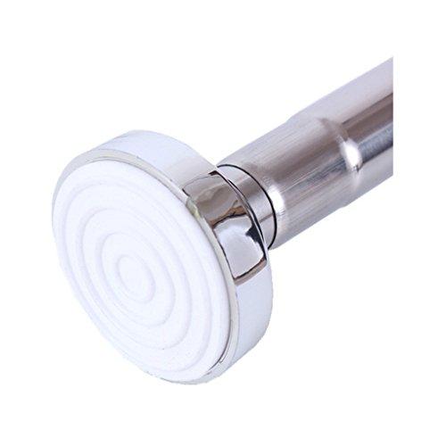 Binario telescopico asta a tensione per tenda doccia acciaio inossidabile 85-140 cm