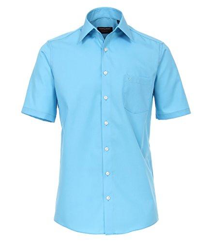 Casa Moda - Comfort Fit - Bügelfreies Herren Business Kurzarm Hemd Verschiedene Farben (008070), Kragenweite:47, Farbe:Aqua bis Petrol (164) (Aqua-hemd)