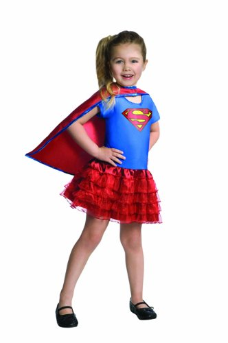Superman Kinder Kostüm Supergirl Karneval Fasching Gr.3-4 ()