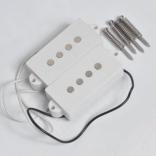 Weiß 4 String Humbucker Tonabnehmer für Fender P-Bass Pickup-Gitarren-Parts Ersatz (Bass Gitarre Fender 4-string)