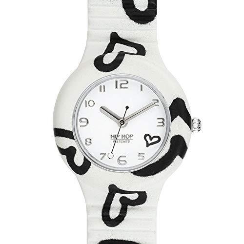 Hip Hop Watches - Damen Hip Hop Romantik Uhr HWU0905 - Be Loved Kollektion - Silikon Armband - 32mm...