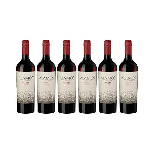 Alamos Malbec (6 x 0,75l) + Kellnermesser - Edler Rotwein aus Argentinien