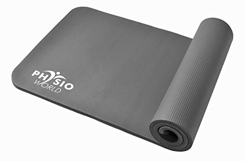 PhysioWorld Exercise Mat - 10/15mm - Pilates/Fitness Grey (Graphite)