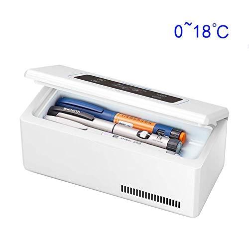 TUNBG große Kapazität tragbare Insulin-Kühlbox, wiederaufladbare LCD-Anzeige 0-18 ° C Car Interferon Cooler Medical Mini Kühlschrank Reisen, Camping
