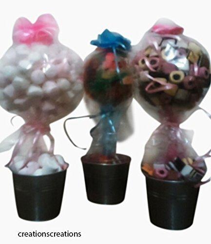 2 Süßigkeitenbäume Bastelsätze - Familienspaß Weihnachtsbeschäftigung - enthält 40 süße Marshmallow Leckereien - einfach zu gestalten - einfache Anweisungen -