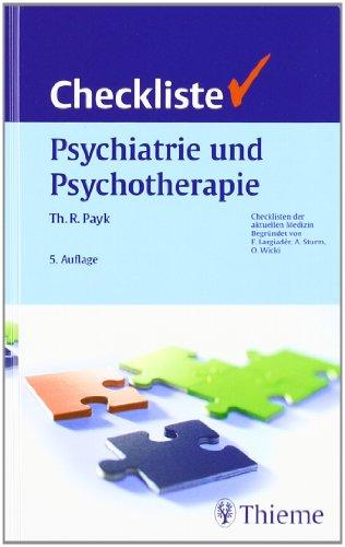 Cover »Checkliste - Psychiatrie und Psychotherapie«