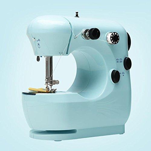 Máquina de coser Xuan - worth having principiante para el hogar Pequeño manual de instrucciones para comer Pedales miniatura gruesos (Color : Azul)