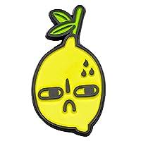 CUFTS SourLemon Hard Enamel Lapel Pin Slightly Bitter Lemon Brooch Fruit Accessory Jewelry