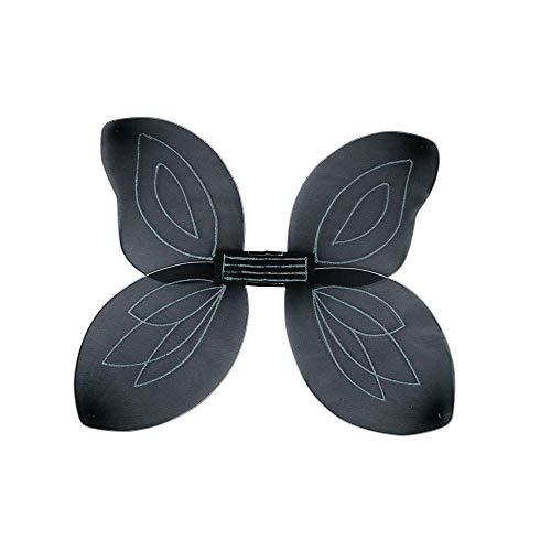Adult Fairytail Fantasy Fairy Wings Fancy Dress Accessory-Black