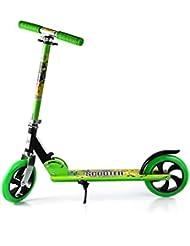 Cimiva-Patinete Patinetes de Trucos y Saltos Patinete Para Niño Kids Scooters (Verde, 10-14 años)