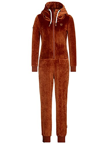 Naketano Damen Overall Blaumann Mack III Jumpsuit- Gr. L, Copper