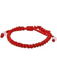JUNESUN Bracelet Fait à la Main Kabbale Chanceux Rouge Chaîne Tressé Amitié  Bracelets ... b69a1380791a