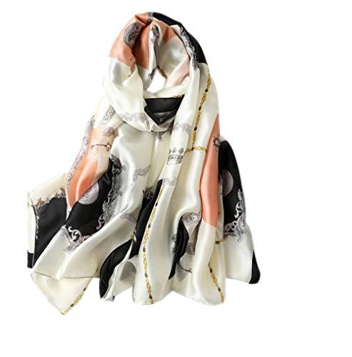 g Sommer Halstuch Leichte Kette Schals Schal Wrap Vintage Seide schiere Schal Luxus Geschenk ()