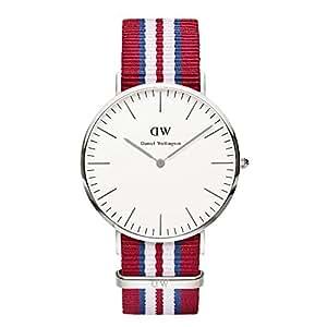 Daniel Wellington Herren-Armbanduhr Analog Quarz One Size, weiß, rot/weiß