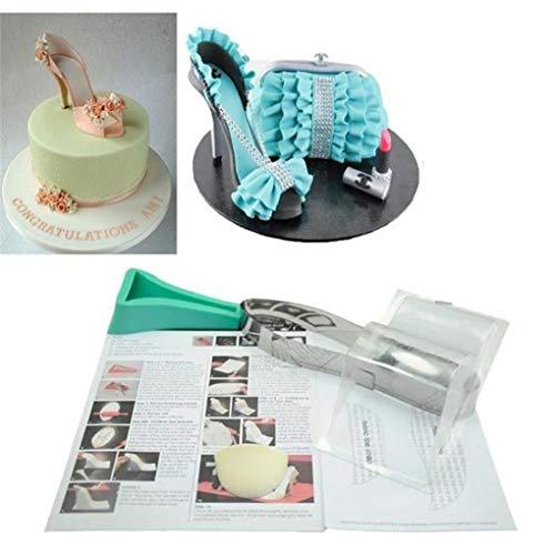 Bomcomi High Heel Form Fondant-Kuchen-Form Modell Zucker Schokoladen-Form DIY Backen Küche Kuchen-Dekoration-Werkzeug Küche Schokolade