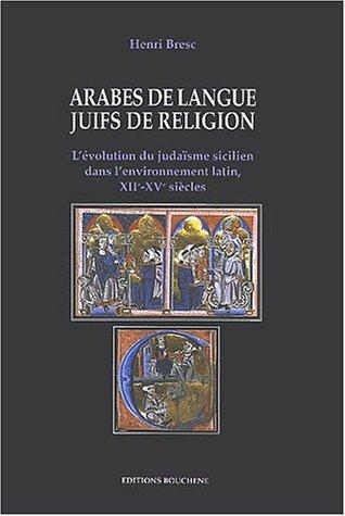Arabes De Langue Juifs De Religion Levol