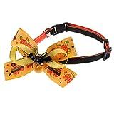perfk Hundehalsband für mittlere Hunde, Hunde Halsband mit Glöckchen und Fliege für Halloween Party - Fledermaus