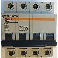 24296 Merlin gerin int. ordenador de. c60 N 4P A Curva C Scheider Electric
