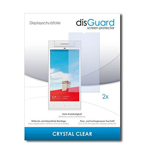 disGuard® Bildschirmschutzfolie [Crystal Clear] kompatibel mit Gionee Elife E7 Mini [2 Stück] Kristallklar, Transparent, Unsichtbar, Extrem Kratzfest, Anti-Fingerabdruck - Panzerglas Folie, Schutzfolie
