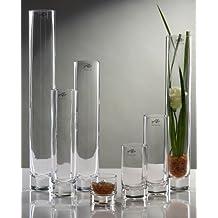 Glasvase Vase Glas Blumenvase Tischvase Zylindervase gerade schlank 40x10 cm klar Floristenqualit/ät