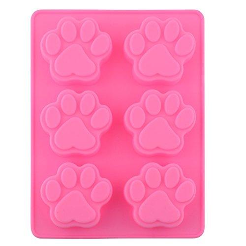 Moldes de silicona con forma de huella de perro, molde de hielo,...