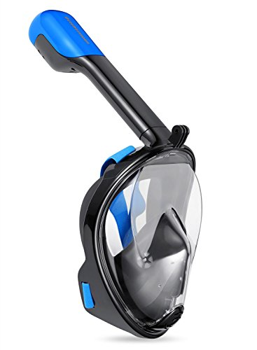octobermoon Schnorchel Scuba Mask mit GoPro trockene oberfläche Full Face Tauchen Maske für Action Kamera Unterwasser Schwimmen Erfahrung large of black