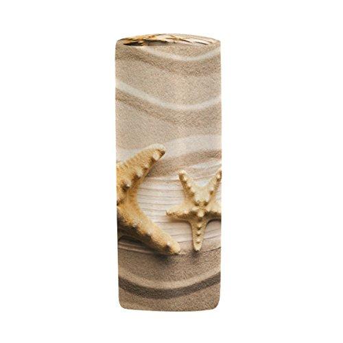 der Form Halter Beach Sand Seestern Holz Plank Stift Stationery Tasche Tasche mit Reißverschluss Make-up ()