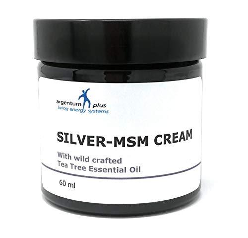 Gesunde Msm Lotion (Silber-MSM Crème mit aus wildsammlung australisches Teebaumöl - 60 ml)