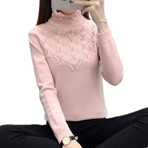 New Winter Women's Head Sweater Head Sleeve Slim Turtleneck Sweater Blouse Shirt Df L -