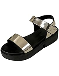 TWBB Women Sandals Summer Platform Fashion Casual Patent leather Flat Shoes