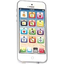 cooplay Blanco yphone Y-PHONE Juguete Música Teléfono Celular Teléfono Móvil con cable USB de recharable para bebé Kids conjuntos de 1