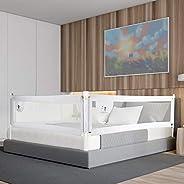 CCLIFE Barandilla de La Cama Guardia de Seguridad para Niños, Barrera de cama portátil 150/180/200cm