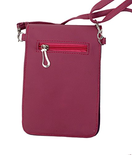 Super Girl Mobile Pouch Sling Bags to carry phone and cards in Style – Magenta