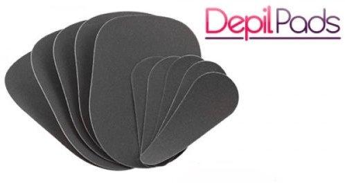 GKA Ersatzpads 10 Stück für Depil Pads Peeling Enthaarungspads Haarentfernung Pads schmerzfrei ohne Chemie