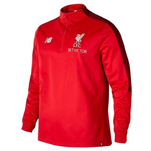 New Balance 2018-2019 Liverpool Elite Half Zip Training Softshell (Red)