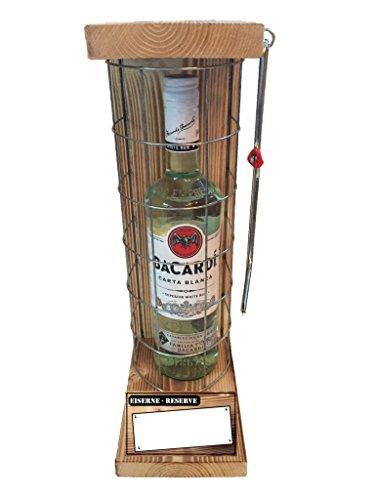 """"""" Personalisierbar mit Ihrem Wunschtext"""" Die Eiserne Reserve mit Bacardi Rum 0,70L Das lustige persönliches Geschenk mit individuellem Text"""