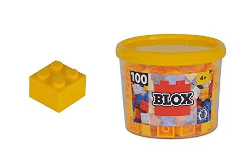 Simba 104114110 - Blox 100 Bausteine in Dose, Konstruktionsspielzeug, 4er set, gelb