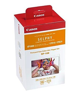 Canon - Jeu d'encre RP-108 pour Selphy - 108 tirages par Canon UK Ltd - Cartouches d'encre