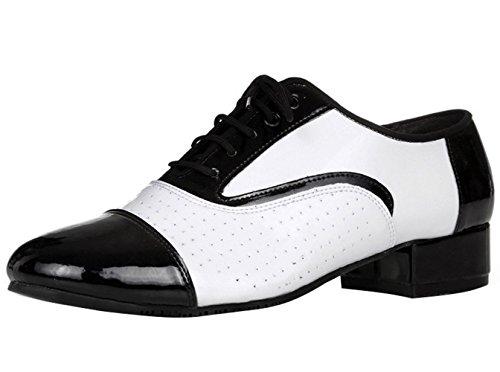 Homens Dayiss Preto / Sapatos De Dança Brancos - Standard & Latin De Salto Alto Absatzz 4,5 Centímetros